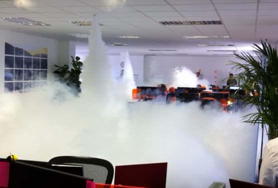 Generador niebla seguridad