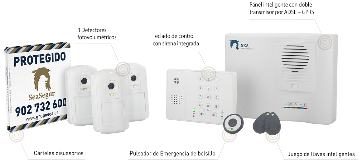 Kit Sistemas de Seguridad Grupo SEA