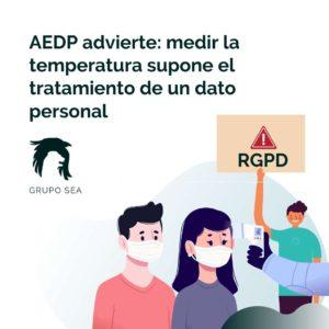 control de temperatura y rgpd