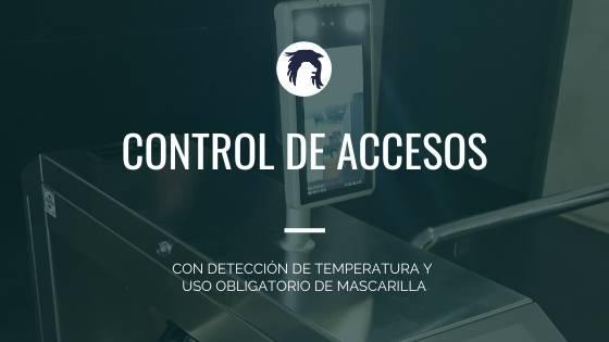 Control accesos con detección uso mascarilla